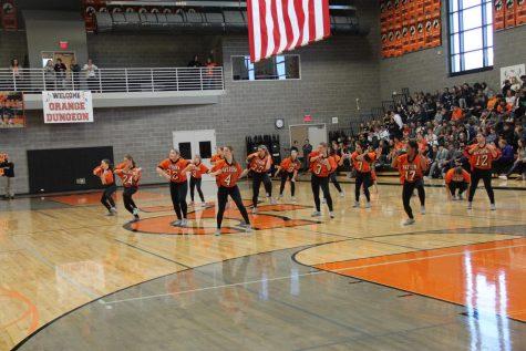 NC dance Team Performs at Oil Bowl