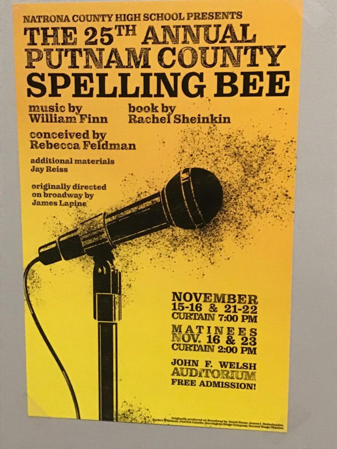 NCHS fall musical The 25th Annual Putnam County Spelling Bee poster.