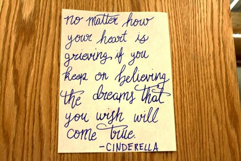 A picture Diana Fittje made with a quote from Cinderella