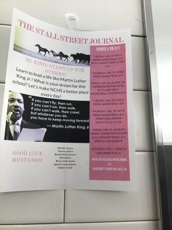 The stall street Journal helps students stay up to date on upcoming events.