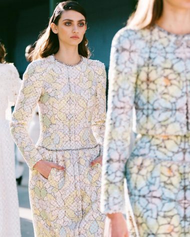 Chanel models Spring 2020 Haute Couture collection.