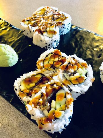 The eel cucumber maki rolls provide a refreshing break from the spice.